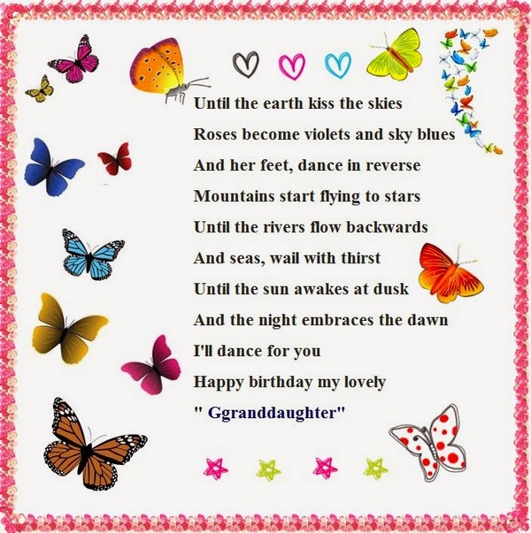 50th birthday wishes poems ; granddaughter-poems-for-birthday-wishes