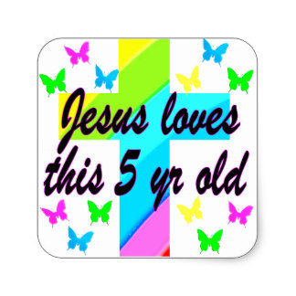 5th birthday stickers ; jesus_love_this_5_year_old_christian_5th_birthday_square_sticker-r72815d632e994d80aa13cbef8e8cc404_v9wf3_8byvr_324