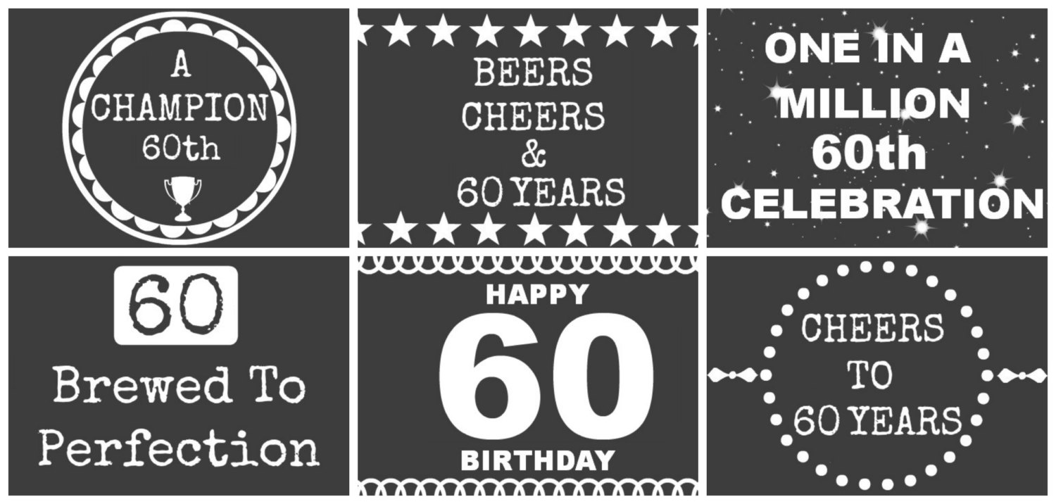 60th birthday labels ; il_fullxfull