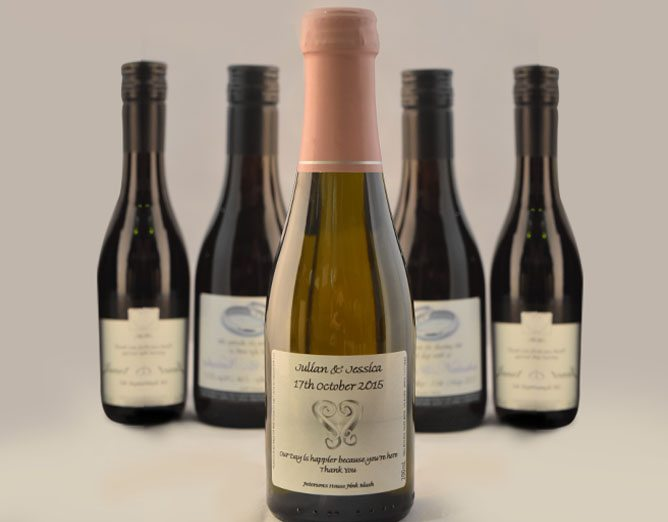 60th birthday wine labels ; wedding-favours