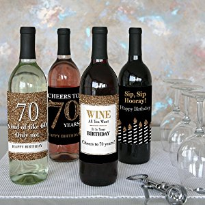 70th birthday labels ; 042pTlcSRVOW