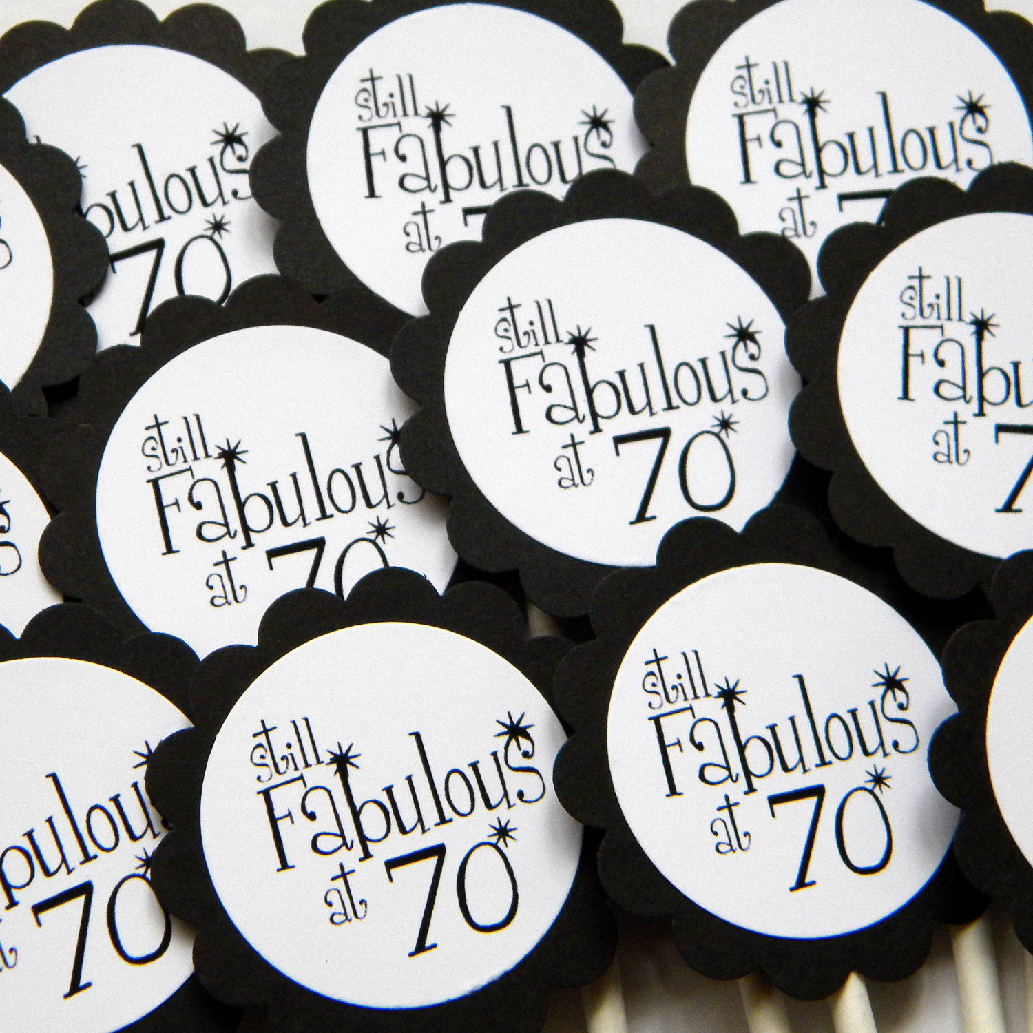 70th birthday labels ; 70th-birthday-party-favor-ideas