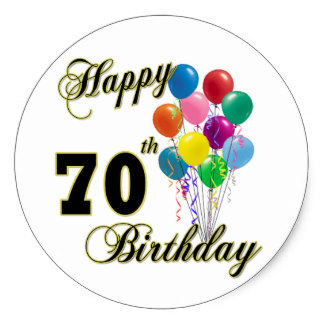 70th birthday labels ; happy_70th_birthday_gifts_and_birthday_apparel_classic_round_sticker-r5828681d0d894d3380d6e430dbaf0de6_v9wth_8byvr_324