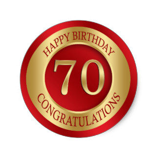 70th birthday stickers ; red_and_gold_70th_birthday_classic_round_sticker-rfb486d98c1514bae89170a962375aaf2_v9waf_8byvr_324