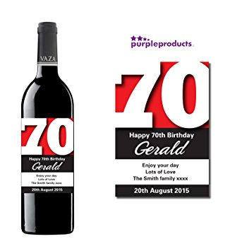 70th birthday wine labels ; 71MtplDuevL