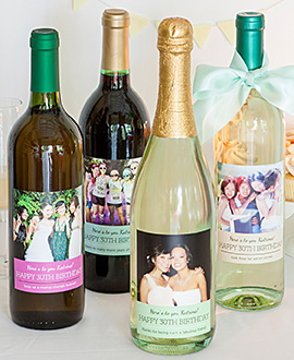 70th birthday wine labels ; bday-winelabels