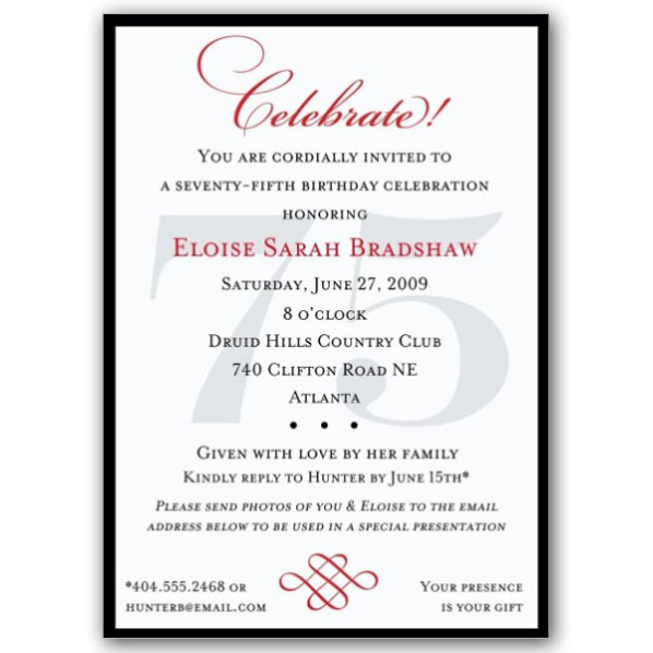 75th birthday invitation cards printable ; classic-75th-birthday-celebrate-party-invitations-paperstyle-75th-surprise-birthday-invitations