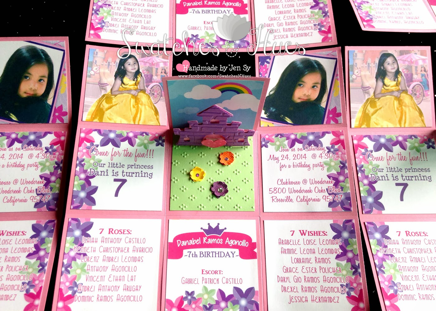 7th Birthday Invitation Princess Theme Photo 4E