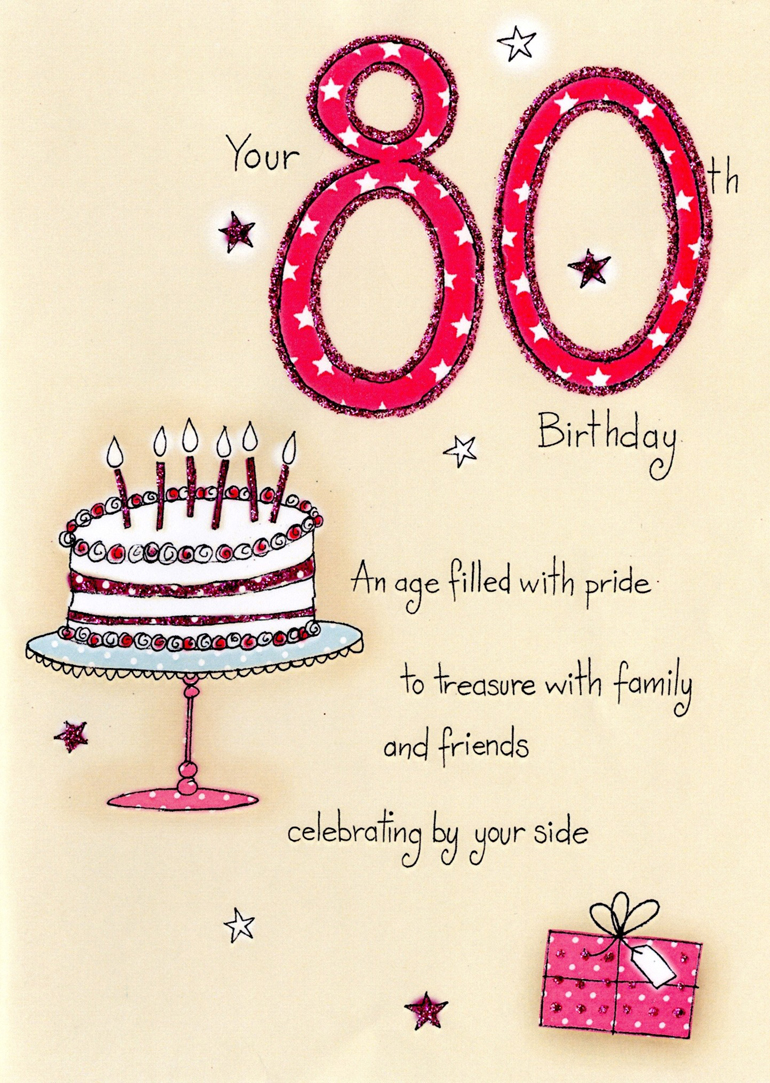 80th Birthday Greeting Card Messages 2