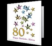 80th birthday greeting card messages ; 3168872a