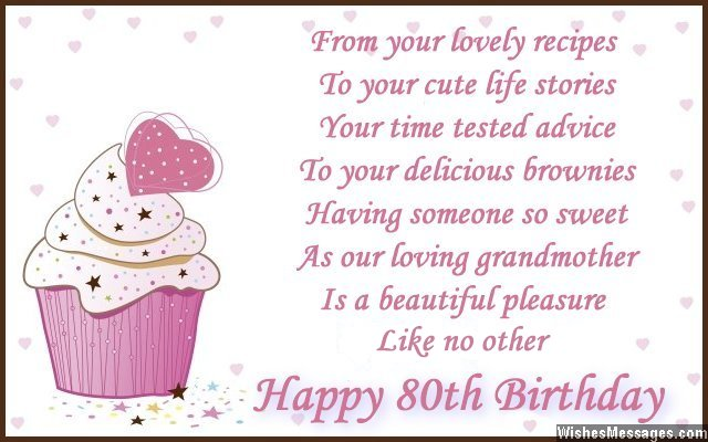 80th birthday greeting card messages ; Cute-80th-birthday-wish-for-grandmother