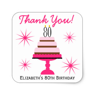 80th birthday labels ; pink_tiered_cake_80th_birthday_favor_stickers-rc3f1c3a57cfd4089af483a391921b0a6_v9wf3_8byvr_324