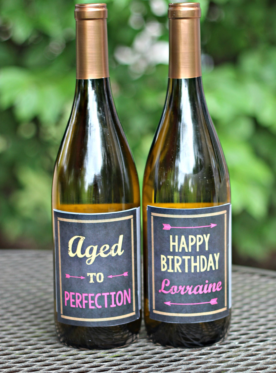 80th birthday wine labels ; il_fullxfull