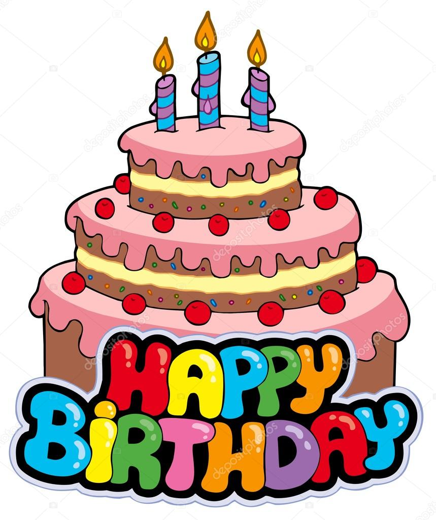 a happy birthday sign ; depositphotos_3947004-stock-illustration-happy-birthday-sign-with-cake
