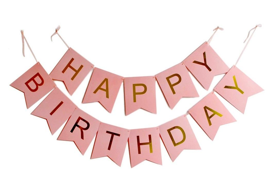 a happy birthday sign ; happy_birthday_banner_pink_gold