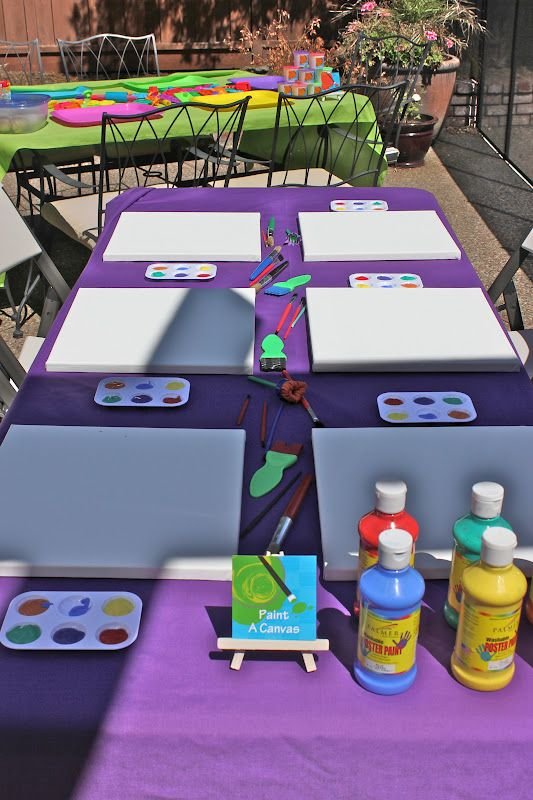 activities for child's birthday party ; 19a4743fb78d7eab88aa22711af6d80f--art-party-activities-arts-and-crafts-party-ideas