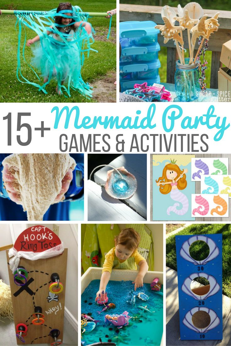 activities for child's birthday party ; 35260600d43355fd378026d9ee48a3fa--ariel-mermaid-mermaid-princess