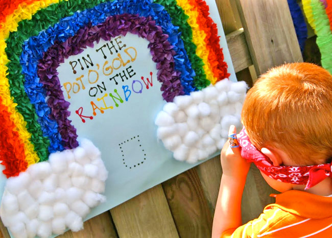 activities for child's birthday party ; rainbow-party-activities-1