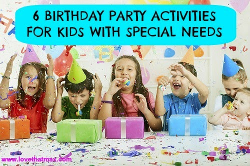 activities for preschool birthday party ; birthday-parties-for-kids-with-special-needs