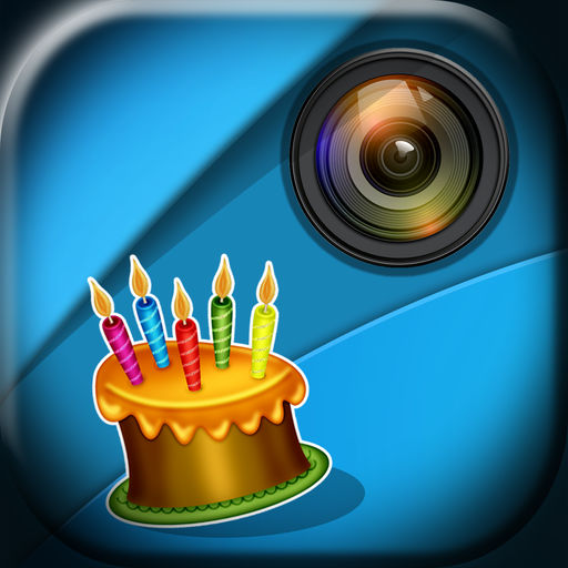 add birthday stickers to photos ; 512x512bb
