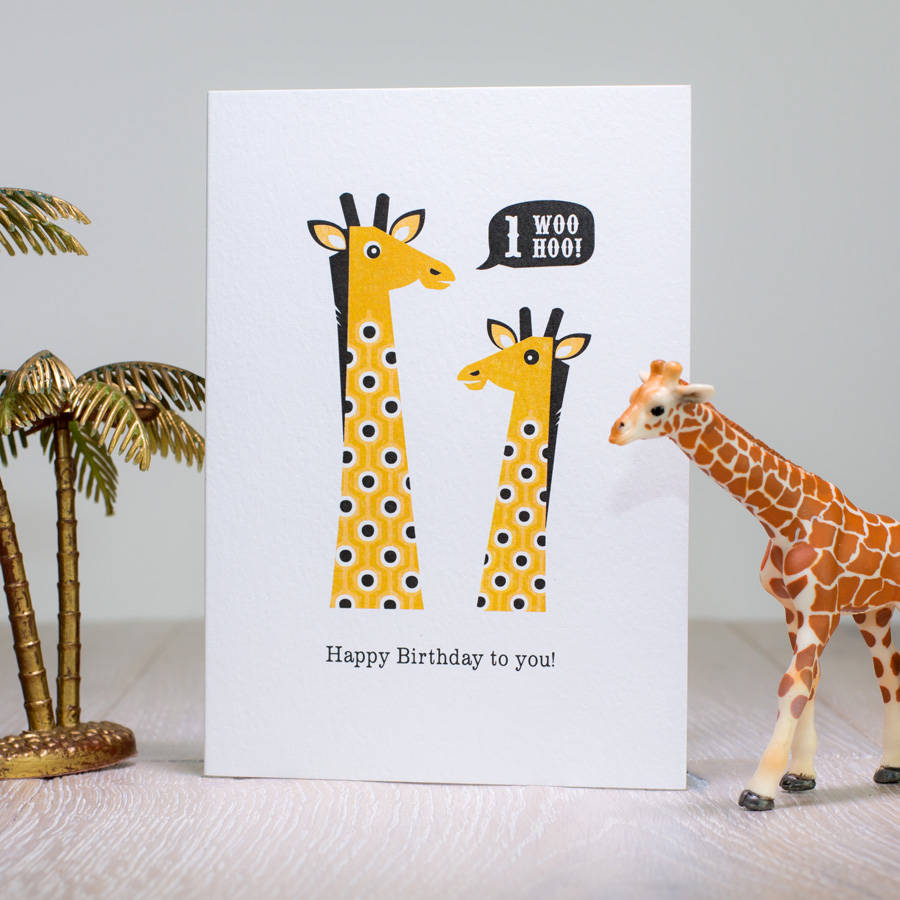 age stickers for birthday cards ; original_giraffe-first-birthday-card-age-one