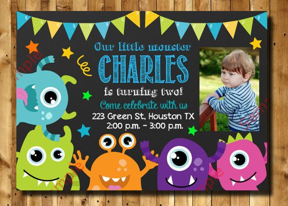 baby birthday activities ; 0b7e9201d163d8fdbe57d10512a04455--monster-birthday-invitations-baby-birthday