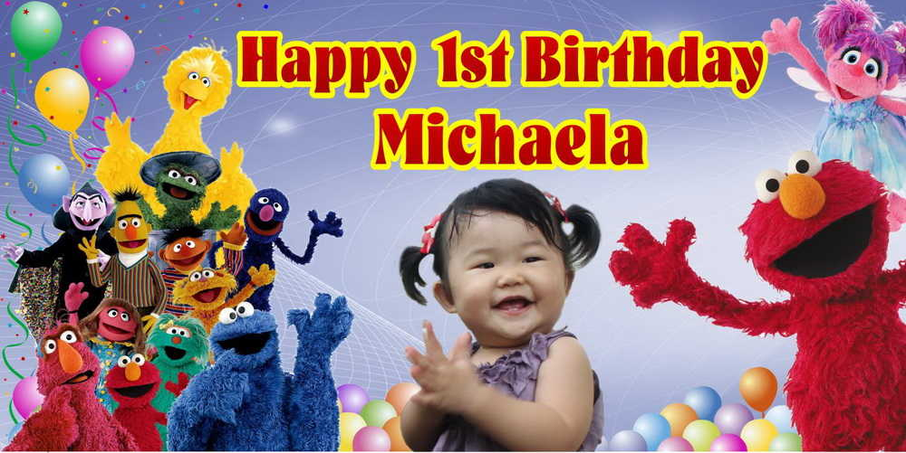 baby birthday banner designs ; 6-X-3-MICHAELA-Princess-Birthday-Banner-Singapore