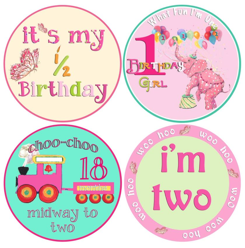 baby birthday stickers ; Girl-Birthday-Set-840x851