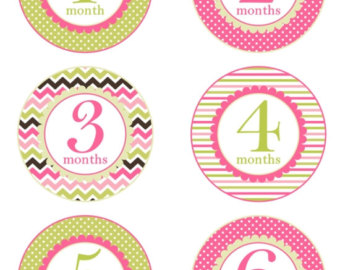 baby birthday stickers ; il_340x270