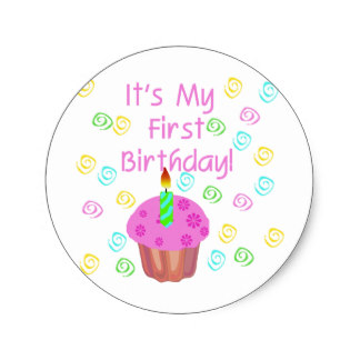 baby birthday stickers ; pink_cupcake_with_candle_first_birthday_classic_round_sticker-r95d8fedf389140f7a409b9b6ed1d88f5_v9waf_8byvr_324
