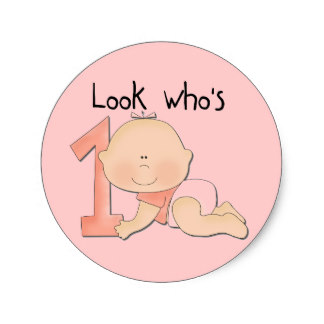 baby birthday stickers ; white_baby_girl_1st_birthday_tshirts_and_gifts_classic_round_sticker-r27c1035519f24286a2f99f11df26a6df_v9waf_8byvr_324