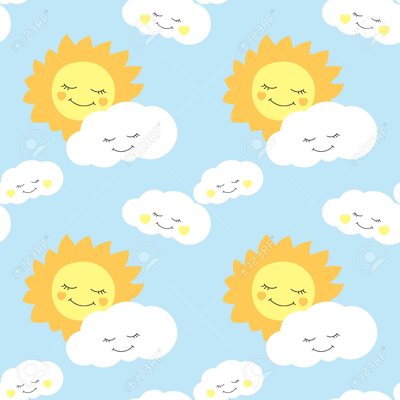 baby birthday wallpaper ; 84776624-cute-baby-sun-pattern-vector-seamless-background-design-for-children-birthday-card-wallpaper-or-fabr