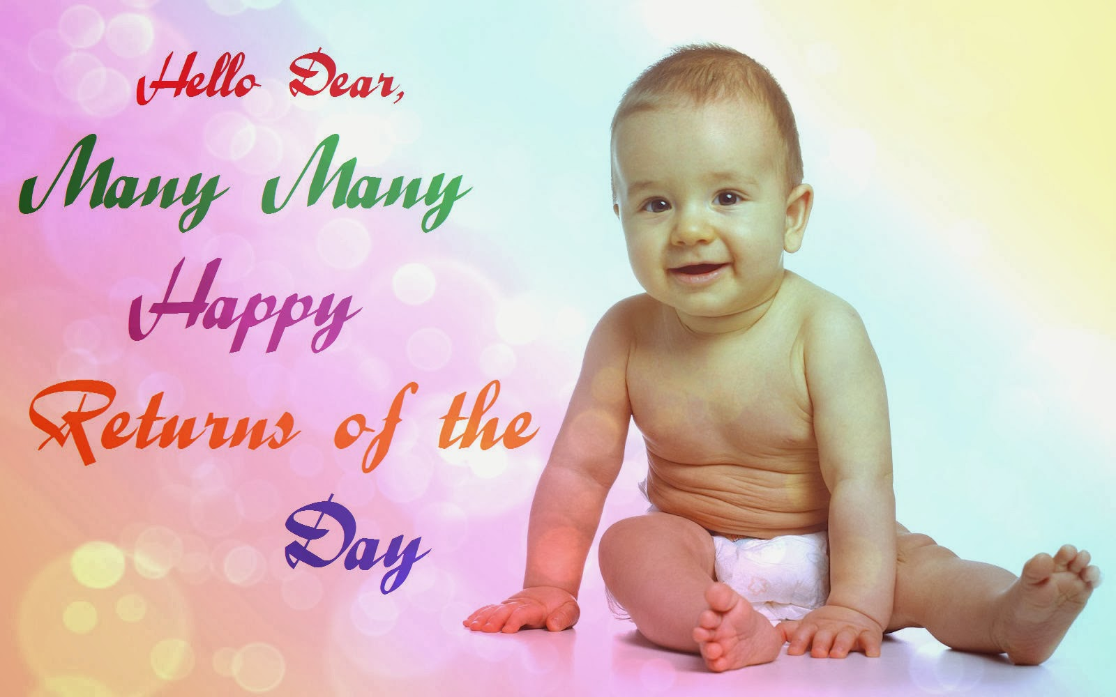 baby birthday wishes card ; Happy+Birthday+Lovely+Wishes+Images+-+131