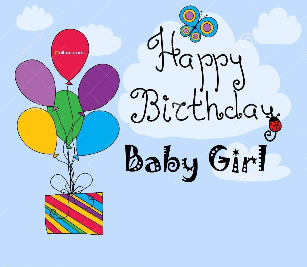 baby birthday wishes card ; Nice-Birthday-Wishes-For-Baby-Girl-E-Card