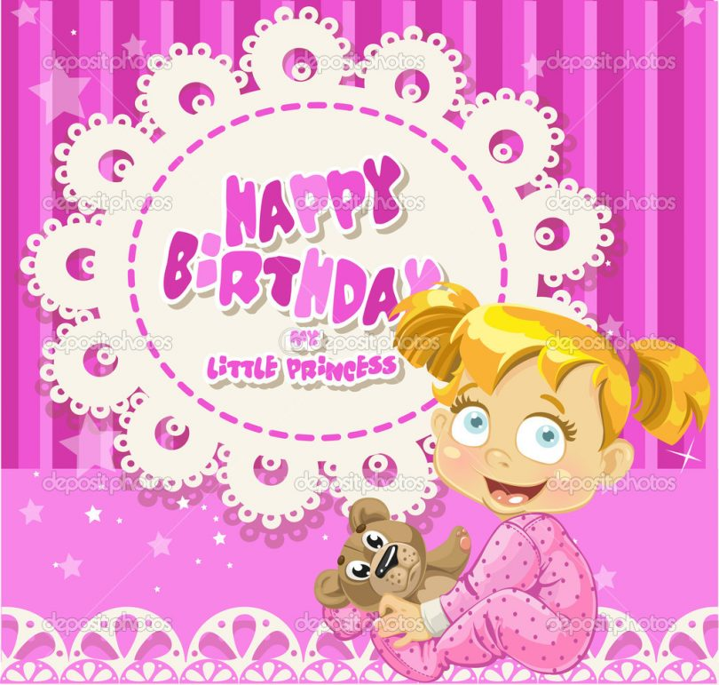 baby birthday wishes card ; cute-baby-wish-quotes-810x771