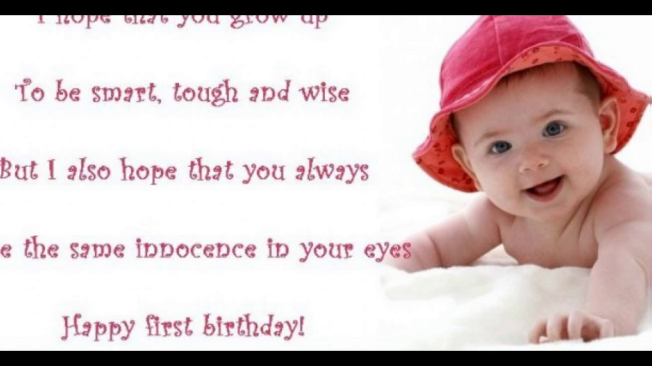 baby birthday wishes message ; maxresdefault