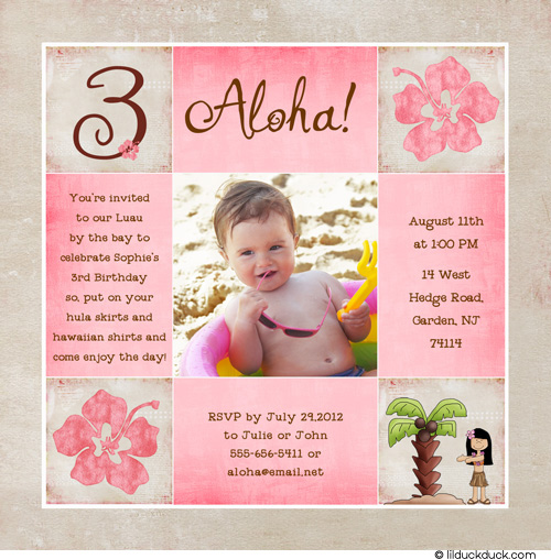 baby girl birthday invitation quotes ; The-Best-10-3rd-Birthday-Invitation-Wording-Free-Download-hibiscus-hula-girl-3rd-birthday-photo-card-pink