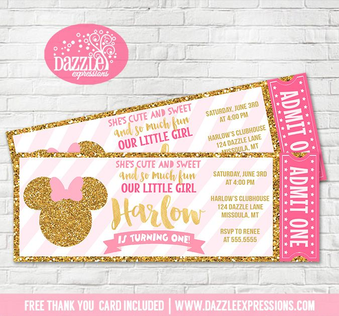 baby girl first birthday invitation quotes ; 339595e1617f7be97c7b9aa34d3475ff--minnie-mouse-pink-and-gold-invitations-pink-and-gold-invitation-birthdays