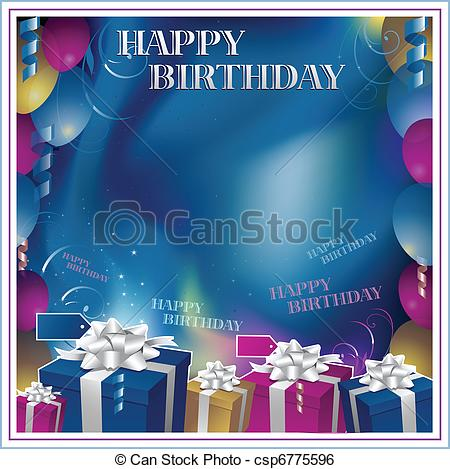 background design for birthday invitation ; happy-birthday-invitation-clip-art-vector_csp6775596