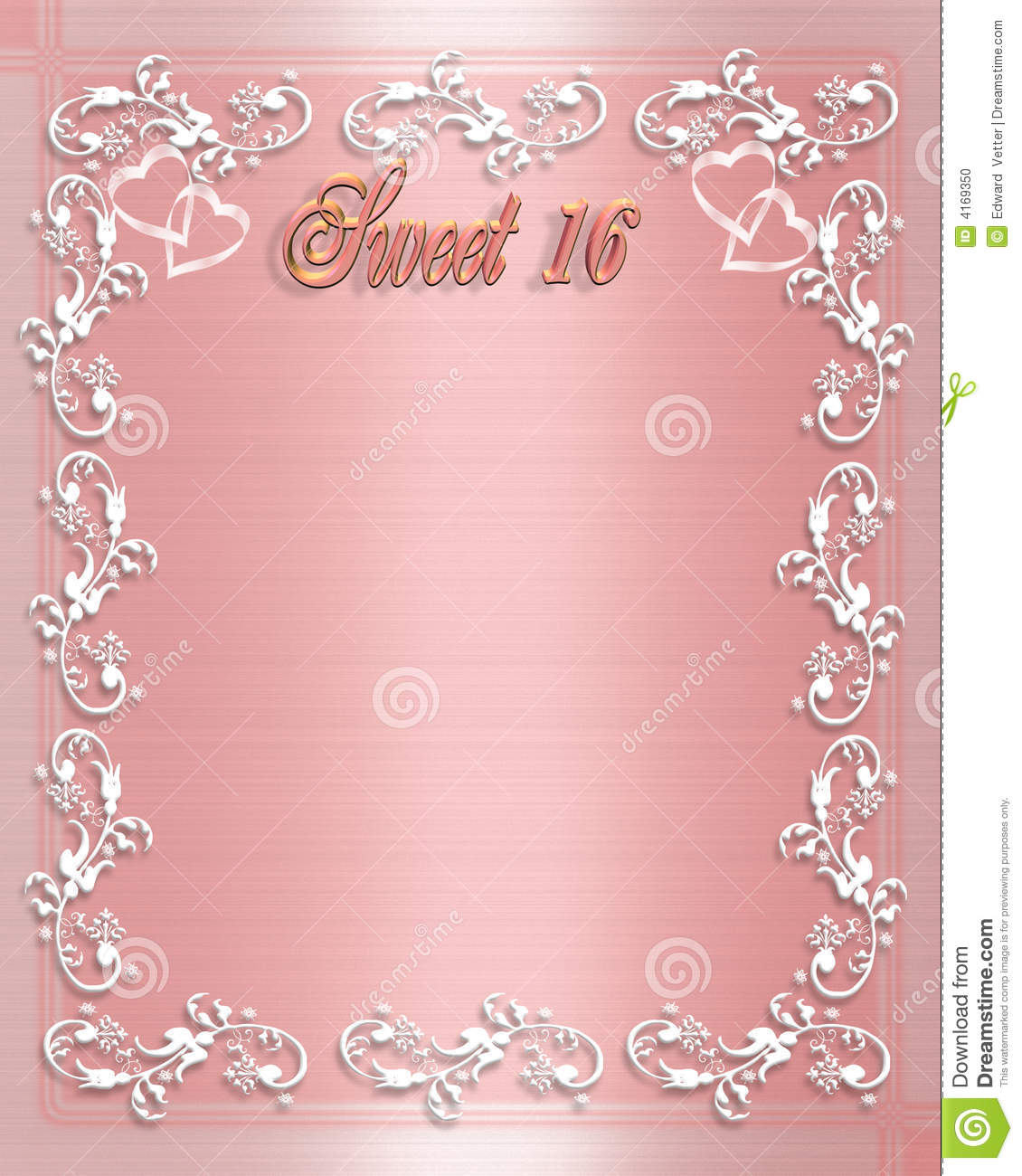 background design for birthday invitation ; sweet-16-birthday-invitation-4169350