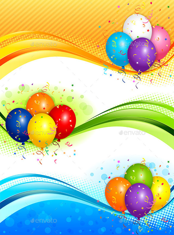 background images for birthday banner ; Colorful-Background-Birthday-Banner-Template