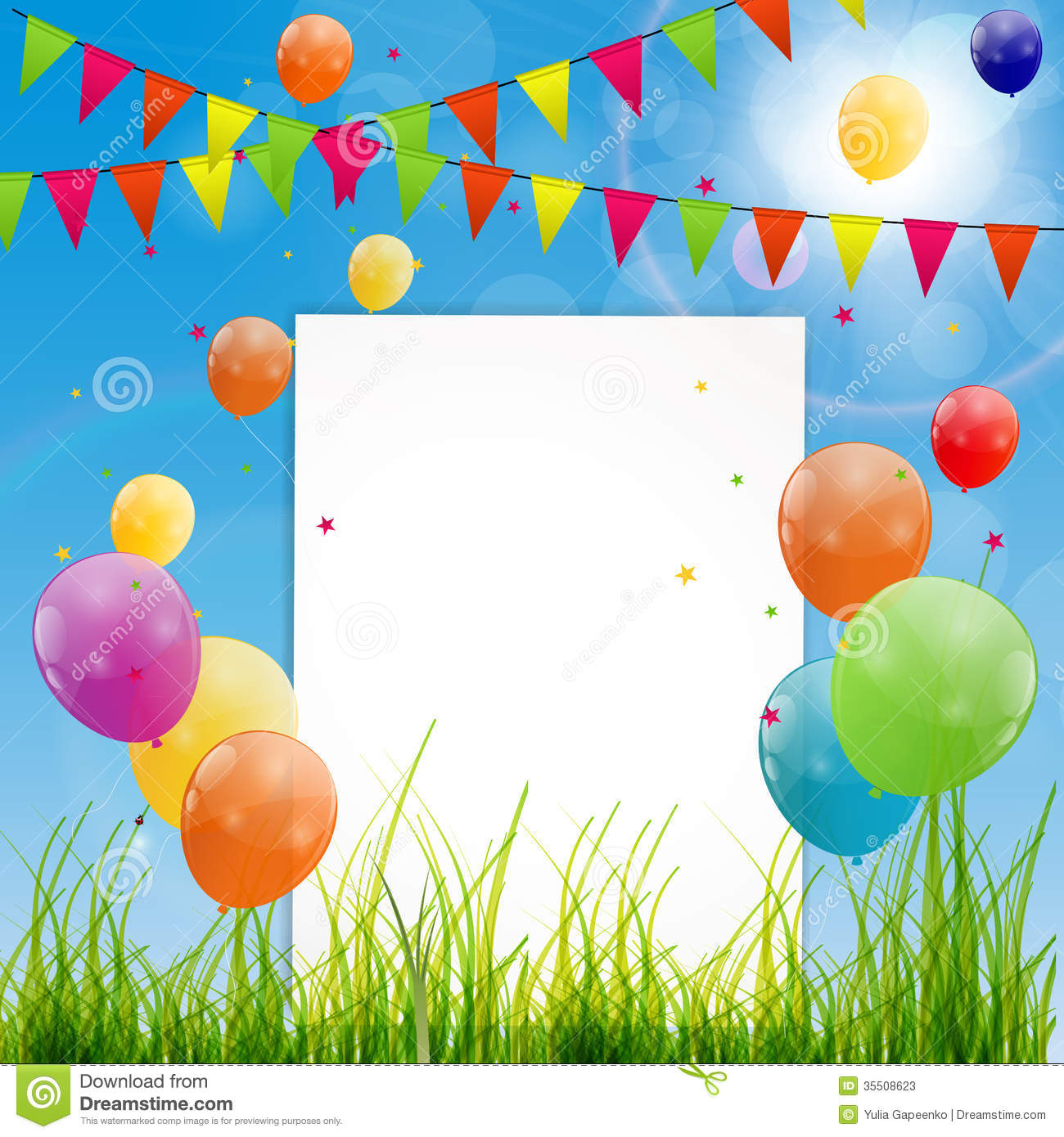 background images for birthday greetings ; color-glossy-balloons-birthday-card-background-vector-illustration-35508623