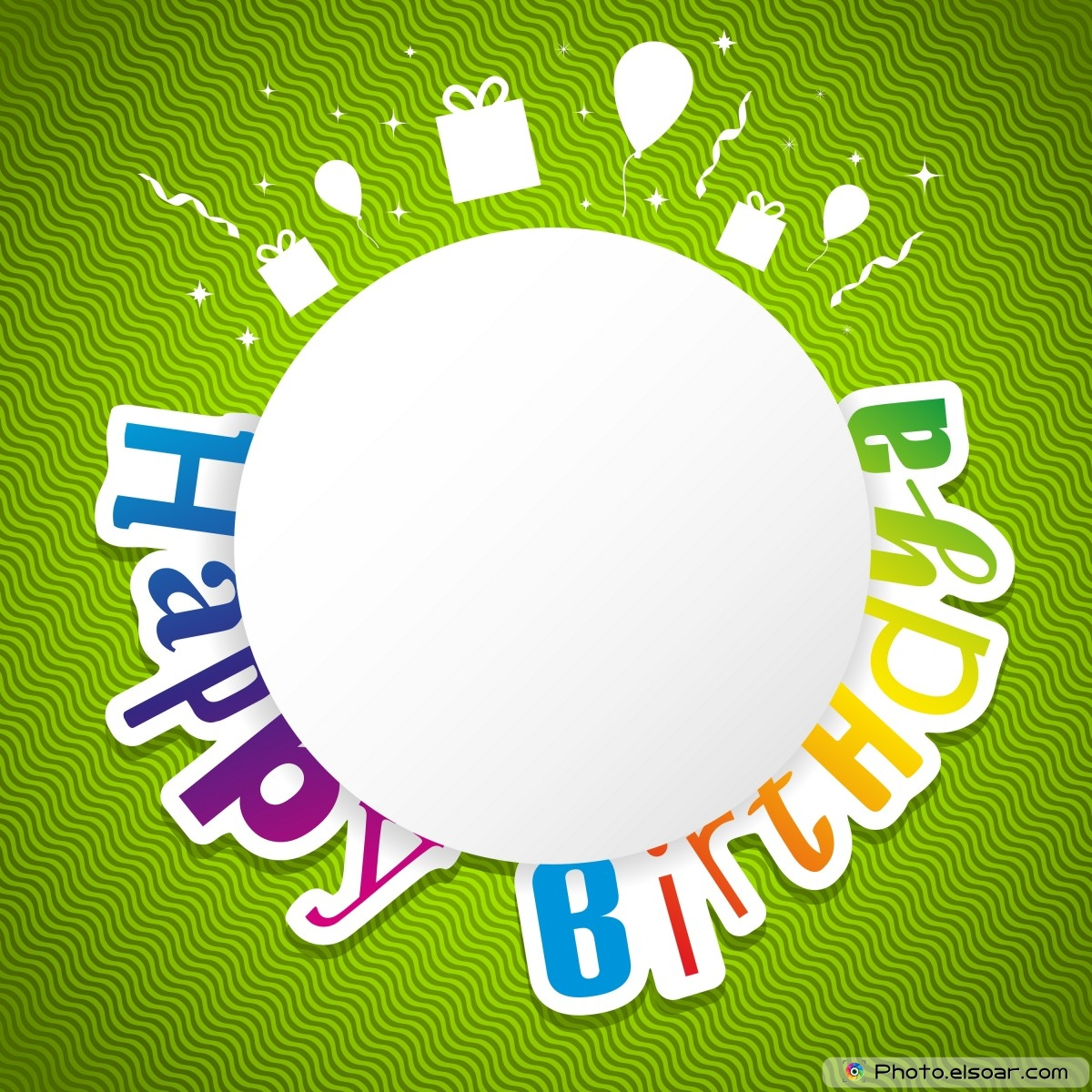 background images for birthday greetings ; happy-birthday-card-on-green-background-as-carnival-happy-new-year