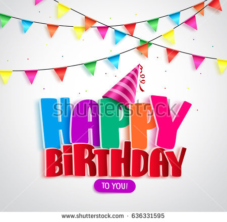 banner design birthday party ; stock-vector-happy-birthday-vector-banner-design-with-colorful-text-and-streamers-for-party-in-white-background-636331595