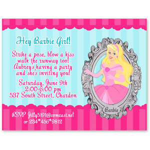 barbie theme birthday invitation card ; Barbie_Princess_Invitations_Dsp