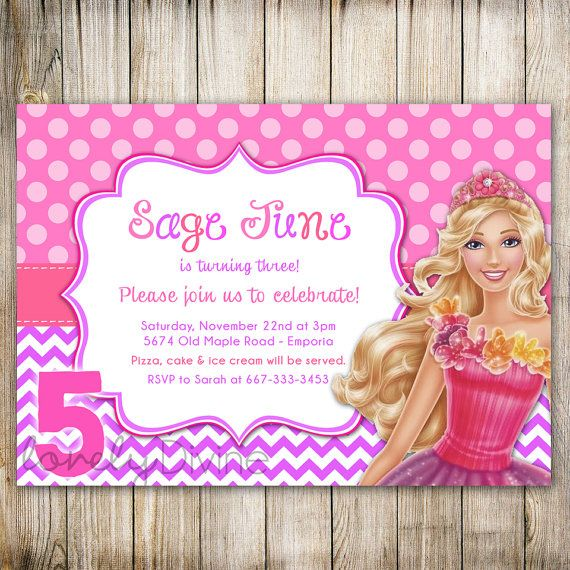 barbie theme birthday invitation card ; Comely-Barbie-Party-Invitations-As-Prepossessing-Ideas-Free-Printable-Birthday-Party-Invitations