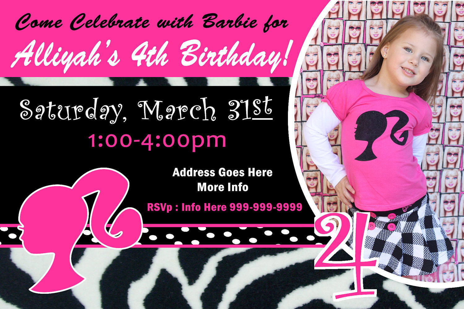 barbie theme birthday invitation card ; barbie_birthday_invitations_4