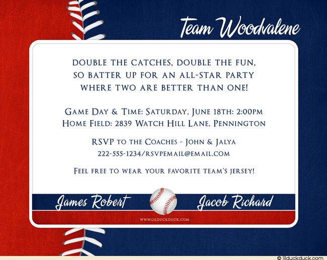 baseball themed birthday party invitation wording ; Baseball-Birthday-Invitations-With-Photo