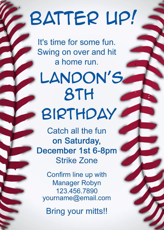 baseball themed birthday party invitation wording ; baseball-party-invitation-wording-baseball-party-invitations-marialonghi-templates