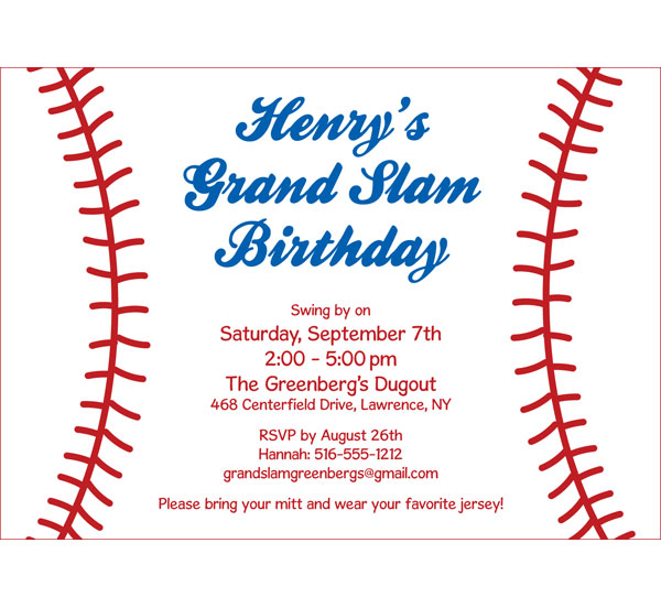baseball themed birthday party invitation wording ; baseball-party-invitation-wording-baseball-party-invitations-theruntime-free